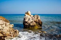 Stein auf dem Strand stockfotos
