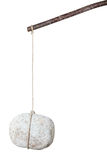 Stein auf einem Steuerknüppel lizenzfreies stockfoto