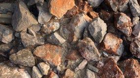 Stein auf Strand Stockfoto