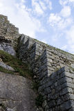 Stein bearbeitet Machu Picchu Peru South Amerika Inca Ruins lizenzfreie stockbilder