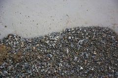 Stein benutzt für Bau Stockbild