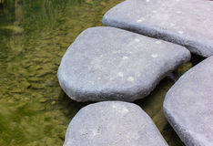 Stein breitete Bürgersteige für Designhintergrund aus Stockbild