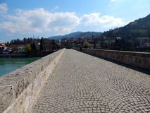 Stein-bridge_Visegrad Stockfotos
