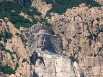 Stein-Buddha-Gebirgsnationalpark-Langlebigkeit China Stockbild