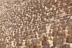 Stein von Giseh-Pyramide, Ägypten Stockfotografie