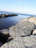 Stein am eastsea stockfotos