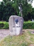 Stein am Eingang zum Hausmuseum des Dichters Adam Mickiewicz Lizenzfreies Stockbild