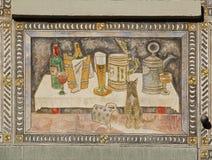 Stein-essere-Reno, Svizzera Gli affreschi sulle costruzioni della rinascita Fotografia Stock