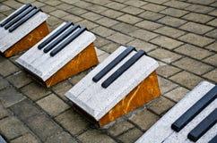 Stein für die Klavierschlüssel Stockbild