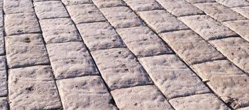 Stein gepflasterte Straße mit Perspektive Hintergrund, Beschaffenheit Stockfoto