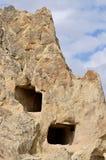 Stein-geschnittene christliche Tempel im Goreme-Freilichtmuseum, Cappadocia Lizenzfreie Stockfotos