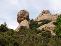 Stein im Berg Stockfoto