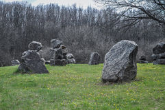 Stein im Garten Stockbilder