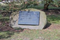 Stein im Jahrestag des Th 500 der Rückkehr Malbork-Landes in das Mutterland Lizenzfreies Stockfoto