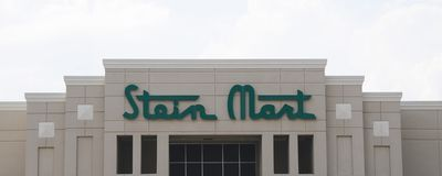 Stein Mart Company Sign. Stein Mart is an American upscale, boutique-style men and women's department store chain based in Jacksonville, Florida royalty free stock image