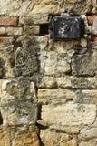 Stein mit Beschreibung stockbilder