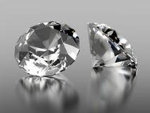Stein mit 2 Diamanten Stockbilder