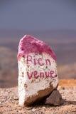 Stein mit Wort Lizenzfreies Stockbild