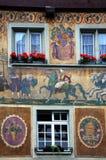Stein morgens Rhein Lizenzfreies Stockbild
