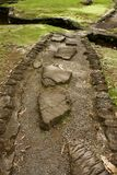 Stein pflasterte Weg in einem japanischen Garten, große Insel, Hawaii lizenzfreies stockbild