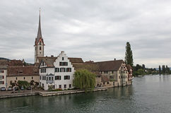 Stein am Rhein auf dem Rhein. Lizenzfreie Stockfotos