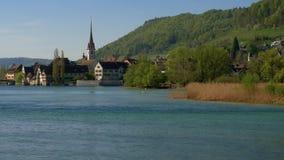 Stein am Rhein, cantão de Schaffhausen, Suíça video estoque