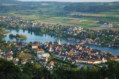 Stein am Rhein de acima. Fotos de Stock Royalty Free