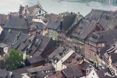 Stein am Rhein die Schweiz Stockbild