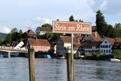Stein am Rhein en de Rijn-Rivier royalty-vrije stock afbeeldingen