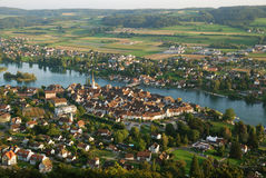 Stein am Rhein från över. Royaltyfri Foto