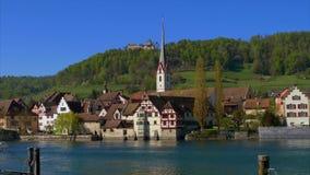 Stein am Rhein kanton av Schaffhausen, Schweiz lager videofilmer