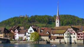 Stein am Rhein kanton av Schaffhausen, Schweiz arkivfilmer
