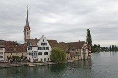 Stein am Rhein on the Rhine River. Royalty Free Stock Photos