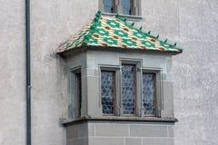 Stein am Rhein Schweiz fönster Fotografering för Bildbyråer