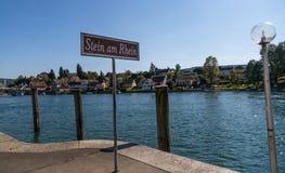 Stein am Rhein strand Arkivbild