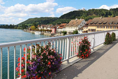 Stein Am Rhein. Switzerland. Rhein River in Stein Am Rhein Village. Switzerland Royalty Free Stock Photo