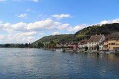 Stein Am Rhein Village. Rhein River in Stein Am Rhein Village Stock Image