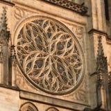 Stein-rosace im Bordeaux, Frankreich Lizenzfreie Stockbilder