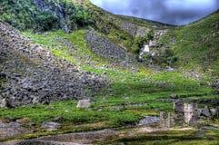 Stein-Ruinen in Glendalough stockfotos