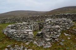 Stein-Ruinen von ein Bienenstock-Hütten Stockbild