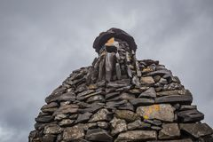 Stein- Skulptur in Arnarstapi, Breidavik West-Island Lizenzfreies Stockfoto