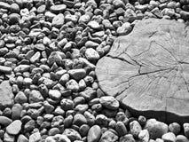 Stein und Holz Stockbild
