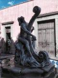 Stein- und Metallbrunnen in Querétaro-Stadt Lizenzfreies Stockfoto