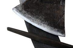 Stein und Raspel und Axt Stockfoto