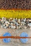Stein- und Sandhintergrund Lizenzfreies Stockfoto