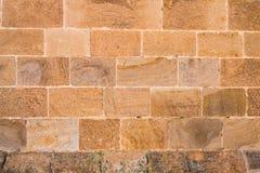 Stein und Ziegelstein wal Lizenzfreies Stockbild