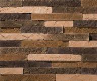 Stein- und Ziegelsteinsteinmauern Stockfoto