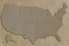 Stein-USA-Braun Lizenzfreies Stockbild