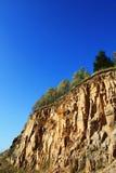 Steinabbys steile Klippe des steinbruchs stockbilder