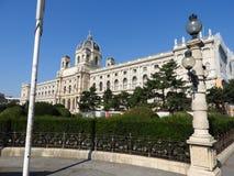 Steinarchitektur von Hausfassaden und von Monumenten, Wien, Österreich stockbild